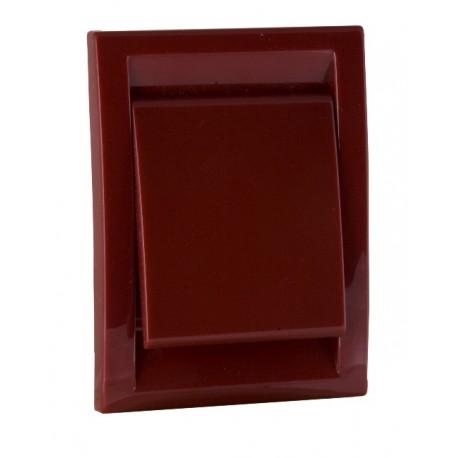 Gniazdo ścienne DECO plastikowe czerwone