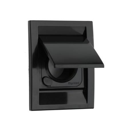 Gniazdo ścienne plastikowe Deco czarne