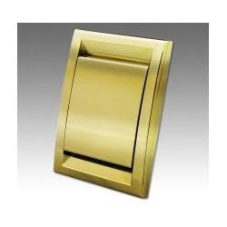 Gniazdo ścienne DECO plastikowe złote